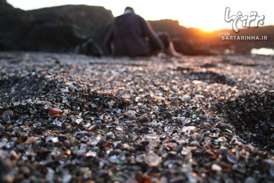 آیا از ساحل شیشه ای چیزی شنیده اید؟! +عکس